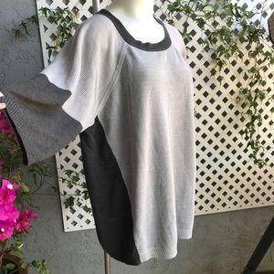 DESIGN HISTORY Gray Charcoal Acrylic Sweater 2X